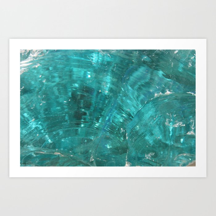 Blue glass Art Print