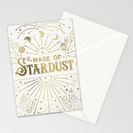 Made of Stardust – Gold Palette Stationery Cards