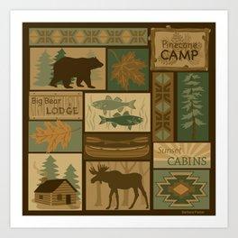Big Bear Lodge Art Print