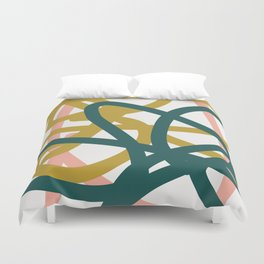 Abstract Lines 02A Duvet Cover