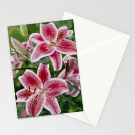 Pink Lily oil painting Stationery Cards
