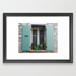 French Window in mint Framed Art Print