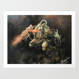 Mech Assassin Art Print