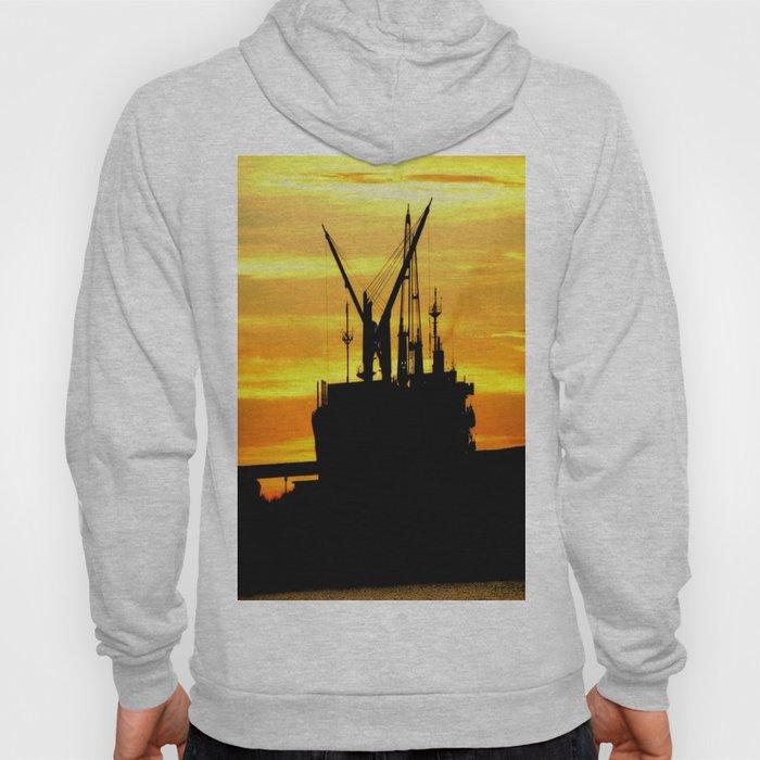 Silhouette of a Fishing Vessel Hoody