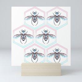 Queen Bee Cool Colors Mini Art Print