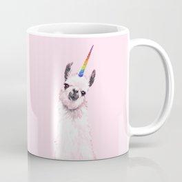 Unicorn Llama in Pink Coffee Mug