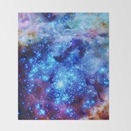 galaxy blue sparkle Throw Blanket