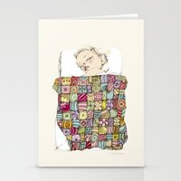 eugenia loli Stationery Cards featuring sleeping child by Cecilia Sánchez