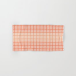 Living Coral Hearts Pattern Hand & Bath Towel