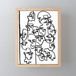 Face Book 3 Framed Mini Art Print