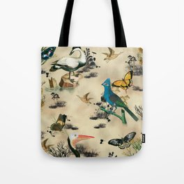 Old Vintage animals n2 print Tote Bag