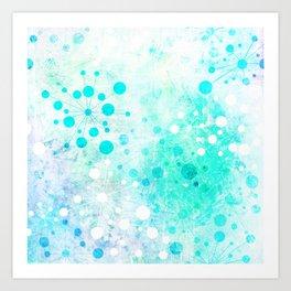 Watercolor Retro Blue Art Print