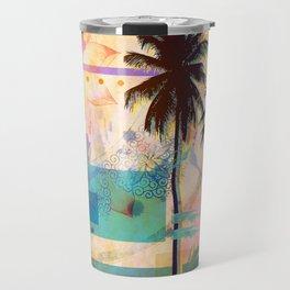Summer Palms Travel Mug