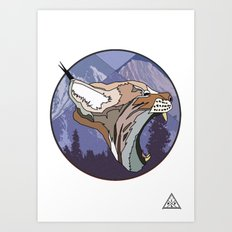 ⧓ Wild Rectangular Lynx ⧓ Art Print