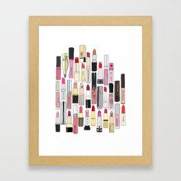 Lipstick Forever Framed Art Print