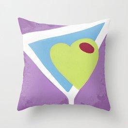 Love Martini Throw Pillow