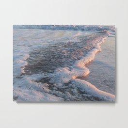 Sea Foam at Sunset Metal Print
