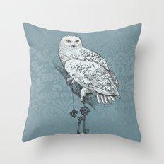 Secrets of the Snowy Owl Throw Pillow