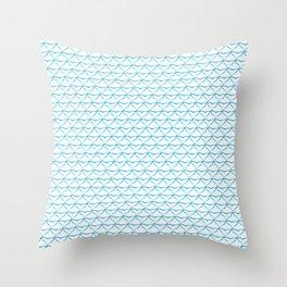 Shark Tooth Print Throw Pillow
