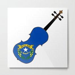 Nevada State Fiddle Metal Print