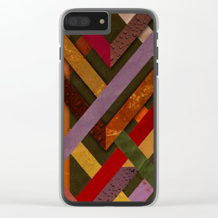 Abstract #290 Clear iPhone Case
