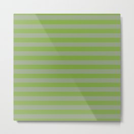 Green Stripes Metal Print