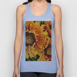 Sunflowers Abstracted Unisex Tank Top