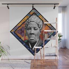 Tubman Afro Diamond Wall Mural