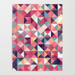 Lovely Geometric Background Poster