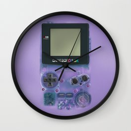 Classic retro transparent purple game watch iPhone 4 5 6 7 8, tshirt, mugs and pillow case Wall Clock