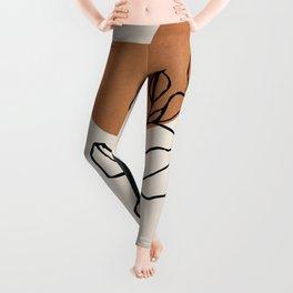 Abstract Art /Minimal Plant 6 Leggings