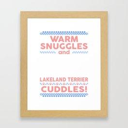 Lakeland Terrier Ugly Christmas Sweaters Framed Art Print