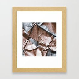 Rose Gold and Silver Abstract Framed Art Print