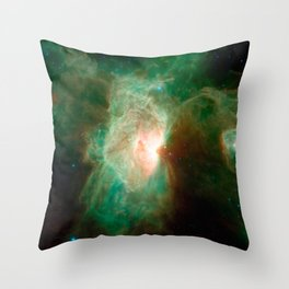 the horse becomes the phoenix   space #04 Throw Pillow