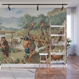 Classical Masterpiece Men Harvesting Olives by Herbert Herget Wall Mural