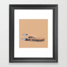 X-34 Landspeeder Framed Art Print