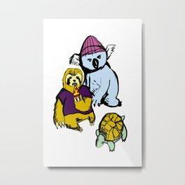 sloth koala turtle squad Metal Print