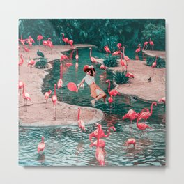 The pink party Metal Print