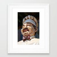 chef Framed Art Prints featuring CHEF by Andrea Jean Clausen - andreajeanco