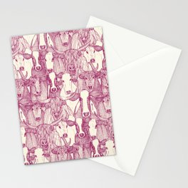 just cattle cherry pearl Stationery Cards