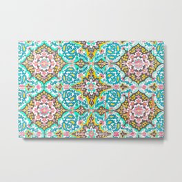 Mexican Ceramic Tile Pattern Metal Print