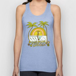 stay golden sun child //retro surf art by surfy birdy Unisex Tank Top