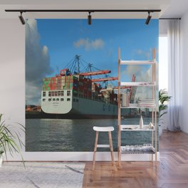 Cosco Cotainer Ship Wall Mural