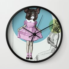 Pretty Chauncey Princess - French Bulldog Wall Clock