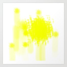 I feel yellow Art Print