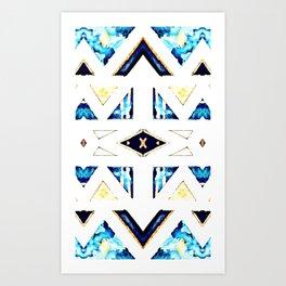 X Triangle Textile Pattern Art Print