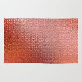 Trinity Pattern (sunset orange) Rug