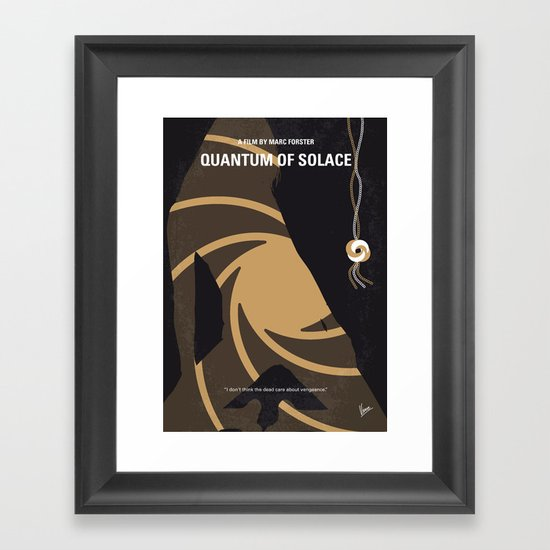 No277-007-2 My Quantum of Solace minimal movie poster Framed Art Print