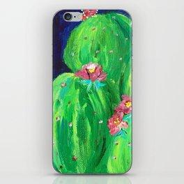 Flowering Prickly Pear Cacus iPhone Skin