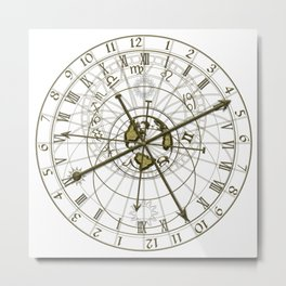 metal astronomical clock Metal Print